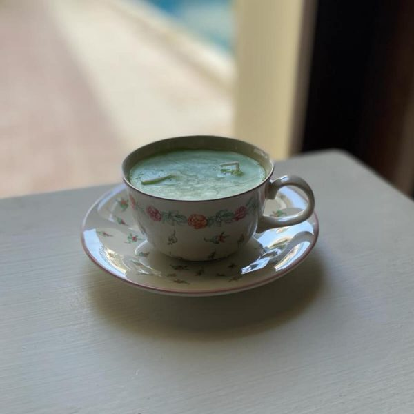 Tea Cup Candle with Saucer- SoUnique.PK