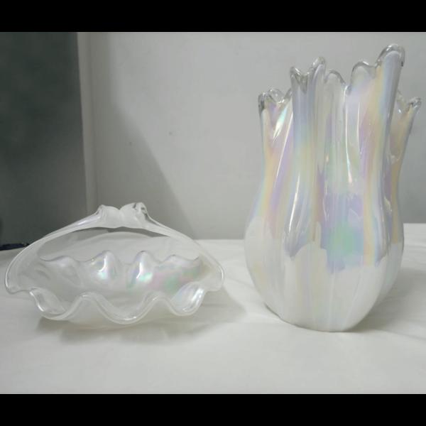 Set of Wavy Vase and Platter - SoUnique.PK