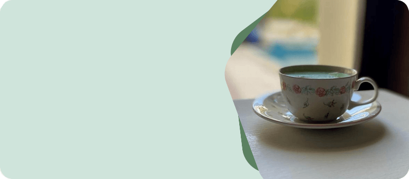 Tea Cup Candle with Saucer