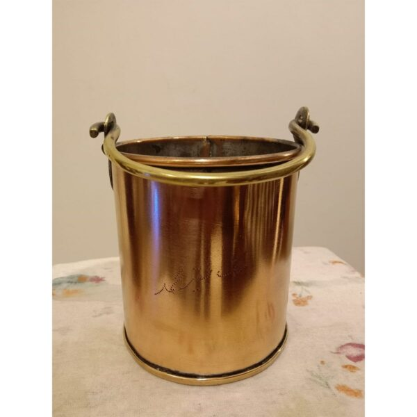 Copper Ice Bucket with Brass Handle - SoUnique.PK